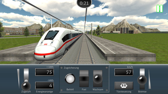 DB Train Simulator mobile game for Deutsche Bahn