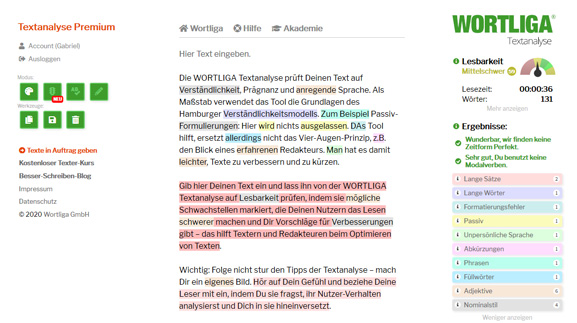 Wortliga Textanalyse